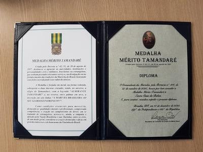 Santa Casa foi agraciada pela Marinha com Medalha Mérito Tamandaré