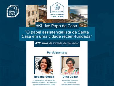 Centro de Memória Jorge Calmon inaugura redes sociais com live sobre a fundação de Salvador