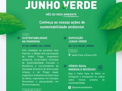 Santa Casa da Bahia realiza programação em comemoração do mês do meio ambiente